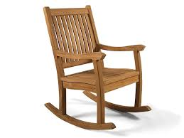 BrackenStyle Premier Grade A Teak Wooden Rocking Chair - Outdoor Wood  Rocking Chair