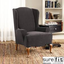 Sure Fit Wing Chair Recliner Slipcover by Furniture Marvelous 187 Ideal Images Of Wingback Chair Covers