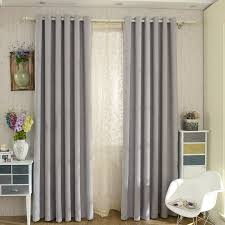modern gray curtains iyuegou modern grey solid grommet top