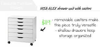 ZE Interior Designs Favourite Furniture Fridays IKEA ALEX drawer