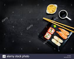 suce dans la cuisine japanese cuisine food with sushi soy suce gari on copy