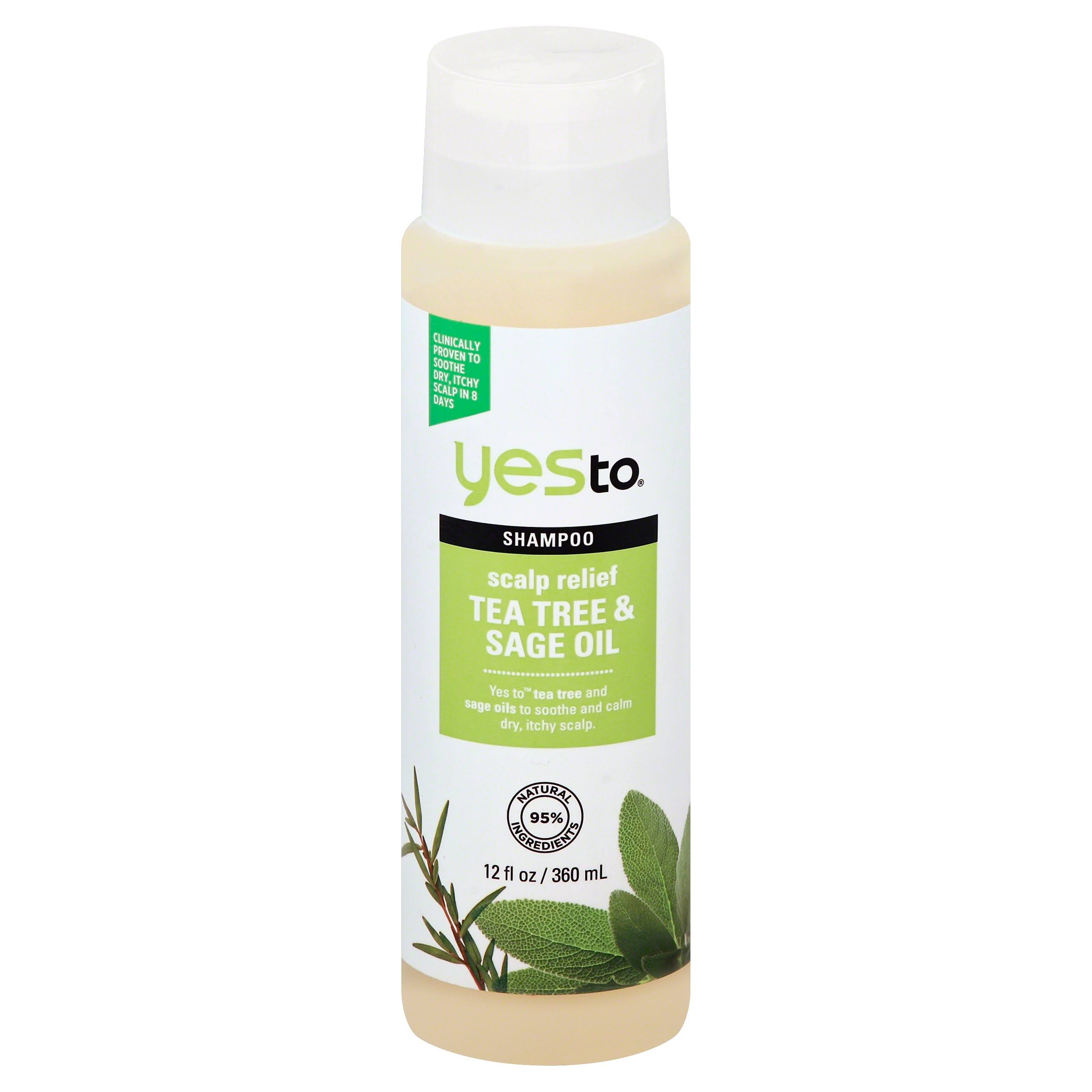 Yes To Tea Tree & Sage Oil Scalp Relief Shampoo - 12 fl oz bottle