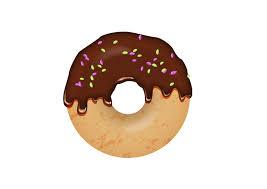 Chocolate Sprinkles Donut Vector Illustration