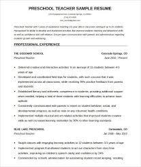Pre K Teacher Resume New 41 Best Sample For Preschool Assistant Of