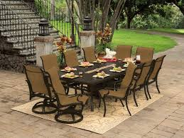 8 10 Person Patio Table by Castelle Patio Furniture Fire Pit Home Outdoor Decoration