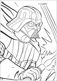 Portrait Of Darth Vader Coloring Page