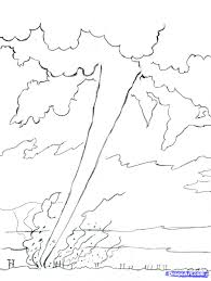 Tornado Coloring Pages Archives Best Page Books