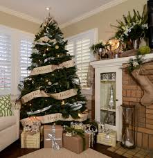 Eclectic Rustic Decor Family Room Traditional With Brick Chimney Christmas Tree Silver And Brown