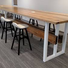 Contemporary Reclaimed Wood And Steel Trestle Conference Table By