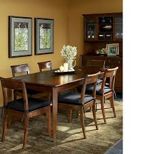 cabria dark extension dining table honey brown crates and