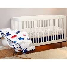 Crib Bedding Sets Walmart by Little Bedding By Nojo Reversible On The Go Vehicles Brick Print 3
