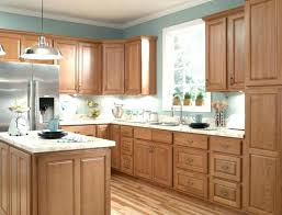 paint colors for small kitchen with oak cabinets and black