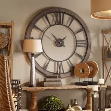 wanduhr holz metall rustikal dekoratives element