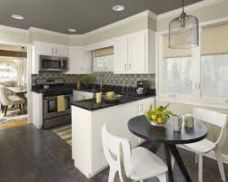 Grey Wall Paint Colors For Modern Kitchens With White Wood Cabinet And Black Countertop Colorful Kitchen Ideas Baytownkitchen Scheme Gray Walls Colour