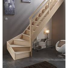 escalier quart tournant bas droit soft wood structure bois johncalle