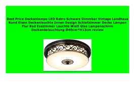 new deckenle led retro schwarz dimmbar vintage landhaus