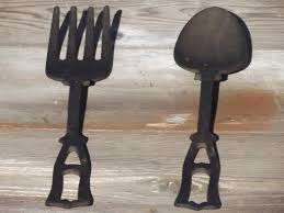 Wood Fork And Spoon Wall Hanging by Spoon U0026 Fork Vintage Kitchen Wall Art Black Cast Iron Utensils