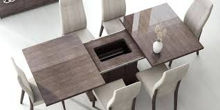 Modern Dining Room Tables Appealing Wood Table With Made Prestige Extendable Walnut