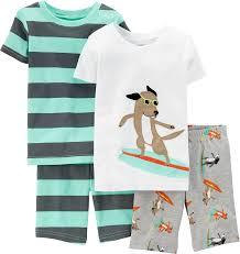 Amazon Com 4 Piece Baby by Amazon Com Carter U0027s Little Boys U0027 4 Piece Print Short Pj Set