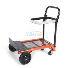 ADJUSTABLE PLATFORM CART Folding Dolly Foldable Push Hand Truck ...
