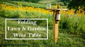Collapsible Wooden Picnic Table Plans by Building A Folding Wine Table Youtube