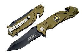 couteau militaire 20 5cm army s578ga couteau pliant balisong