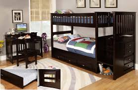 discovery world furniture twin over twin espresso staircase bunk