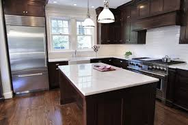 Espresso Kitchen Decor Cabinets With Wood Floors Pict