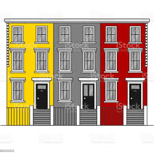 104 Notting Hill Houses Colorful Terraced Town In London England Travel Landmark United Kingdom Architecture Sightseeing Stock Illustration Download Image Now Istock