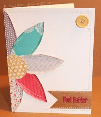 No Die Cutting Machine Required I Think The Stitching Details And Distressed Paper Makes This Card Look Almost Like A Fabric Quilt Block