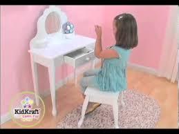 child s medium vanity stool kidkraft 13009 youtube