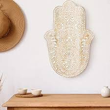orientalische holz ornament wanddeko der fatma 54cm gross xl orientalisches wandbild wanpannel in weiß als wanddekoration vintage triptychon
