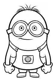 Dibujo Para Colorear Del Personaje Dave De Los Minions Dibujos
