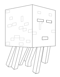 Click To See Printable Version Of Minecraft Ghast Coloring Page