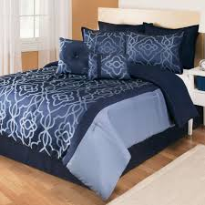 Bedroom Interior Charming Design Navy Blue forter Sets