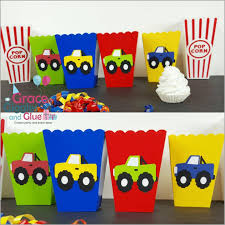 10 Monster Truck Inspired Snack/Favor Boxes | Grace Giggles And Glue