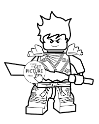 Kai Ninjago Coloring Pages For Kids Printable Free Lego Inside