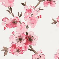 Cherry Blossom Curtain Panels by Pink Cherry Blossom Changing Pad Cover Carousel Designs