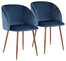 LumiSource Fran Dining Chair, Walnut And Blue Velvet, Set Of 2, Walnut And  Blu Small Round Ding Table In Black With 4 Teal Blue Velvet Chairs Rhode Island Kaylee Remarkable Navy Set Tufted Uptown Chair Silver Leaf Including Modern Lovely Pink Upholstered Gold Room Metal Frame Of 2 Extraordinary Covers Slipcovers A Rustic Elegant Thanksgiving Eclectic Living Room Home White Extendable 6 Vivienne Jenna Belinda Ding Chair Navy Khamila Fniture Store Kallekoponnet Kitchen Design Tiffany Slate Amusing