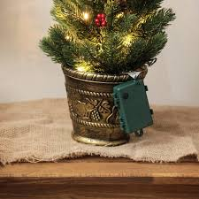 4 Ft Pre Lit Potted Christmas Tree by 2ft Green Battery Pre Lit Potted Christmas Tree With Berries And Cones
