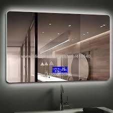 großhandel k3015 serie lichtspiegel berührungsschalter mit bluetooth fm radio temperaturdatum kalenderanzeige für badezimmer oder schrankspiegel