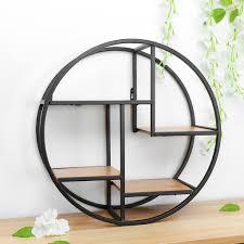 wandmontiertes eisenregal rundes schwimmendes regal wandregal fš r speisekammer wohnzimmer schlafzimmer kš che eingangsbereich