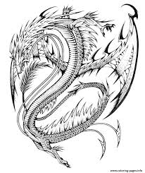 Print Adults Difficult Dragons Coloring Pages Adult New Dragon For