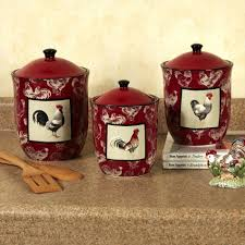 Kitchen Decor Sets Roselawnlutheran Amazoncom Set Of Shaped Red Ceramic