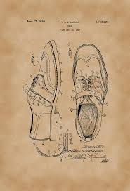 1930 Golf Shoes Patent Drawing Vintage By Patently Artful