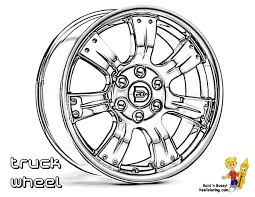 Colouring Sheet Of Truck Wheel At YesColoring
