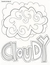 My Weather Book Coloring Page From TwistyNoodle