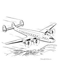 Airplane Coloring Sheets