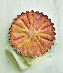 Rhubarb And Amaretti Cake With Orange Rosemary Glaze