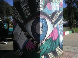 Chicano Park Murals Map by Woman With Flag Mural